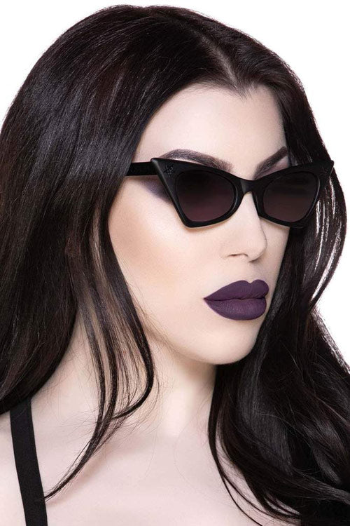 Killstar Nyte Matt Black Sunglasses