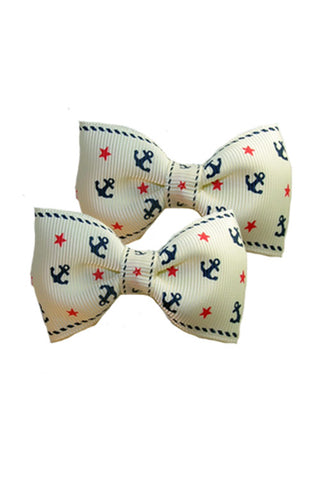 Nautical Bow Pair in Cream