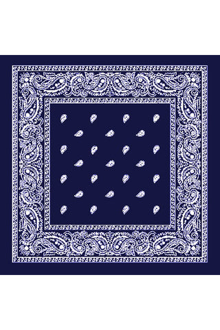 Kitty Deluxe Cotton Bandana in Navy Paisley