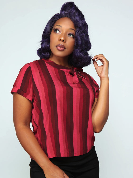 Collectif Nicola Top in Midnight Stripe