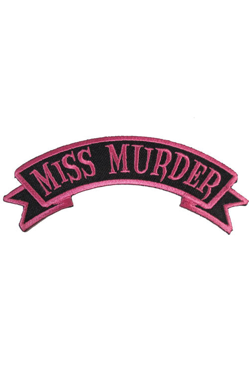 Kreepsville 666 Iron on Patch of Miss Murder Arch