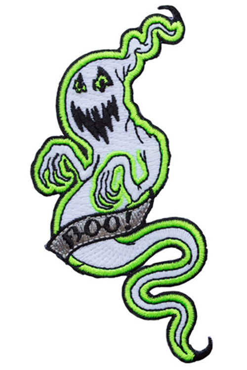 Kreepsville 666 Iron on Patch of Glow in the dark BOO Ghost