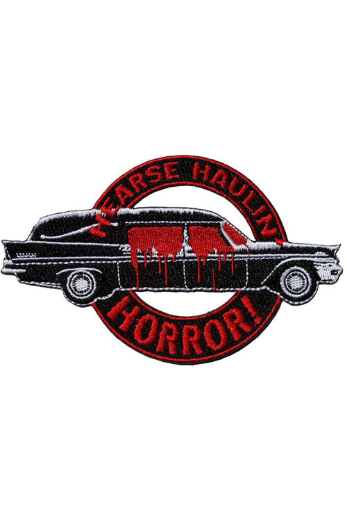 Kreepsville 666 Iron on Patch of Hearse Haulin Horror
