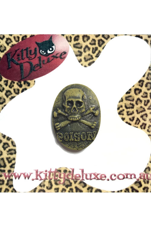 Kitty Deluxe Broochlette Brooch in Poison Skull & Crossbones