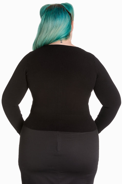 Hell Bunny Paloma Cardigan in Black