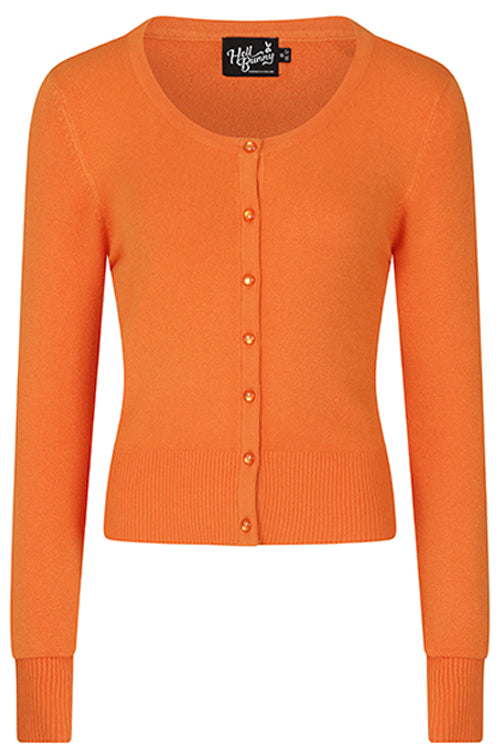 Hell Bunny Paloma Cardigan in Orange