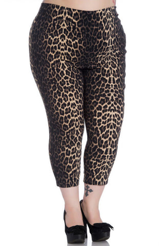 Hell Bunny Panthera Stretchy Capri Pants