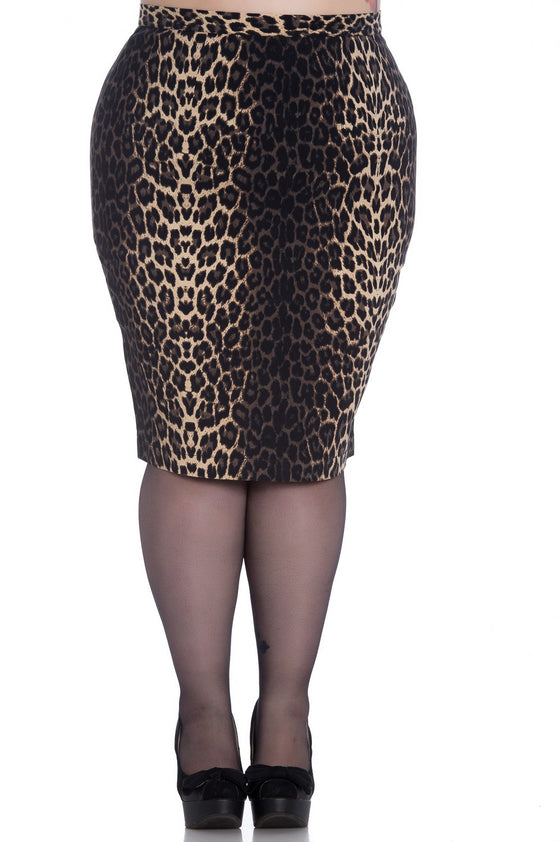 Hell Bunny Panthera Stretchy Pencil Skirt