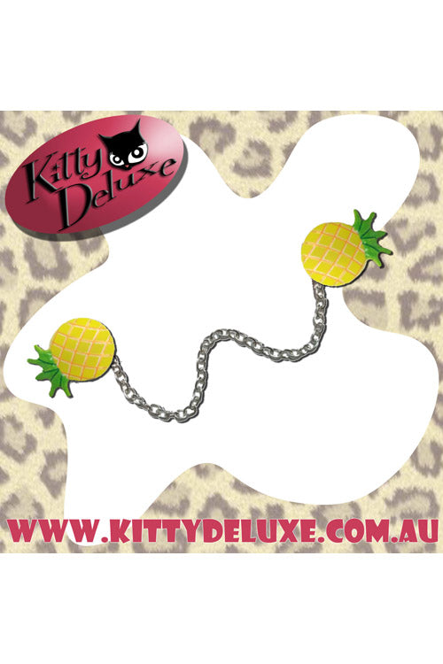Kitty Deluxe Cardigan Clips in Penny the Pineapple