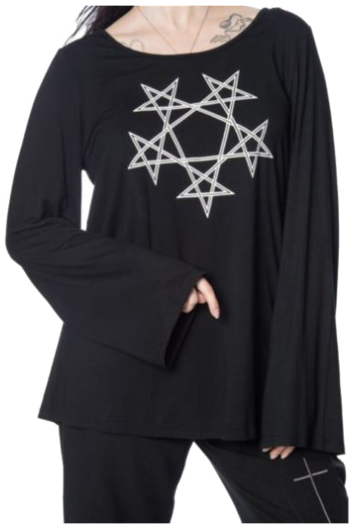 Banned Pentagram Oversized Top