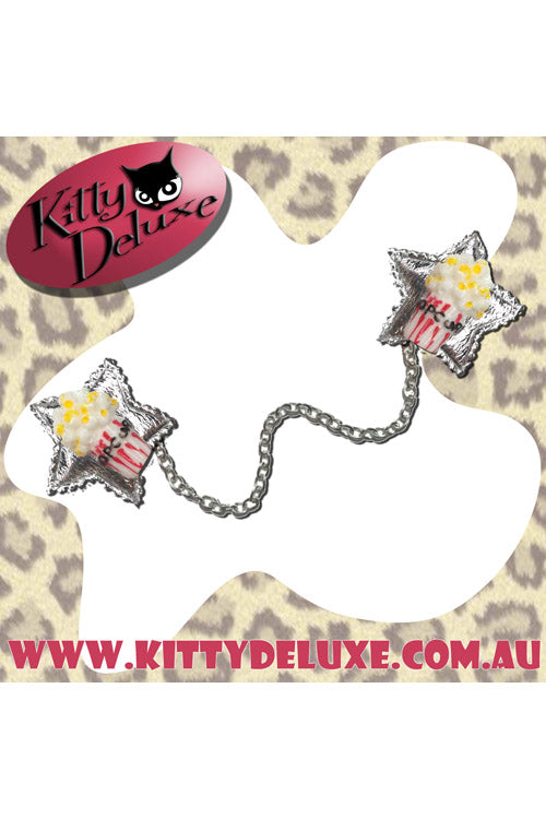 Kitty Deluxe Cardigan Clips in Polly the Popcorn