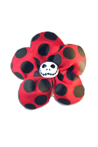 Krazy Daisy in Red with Black Polka Dots