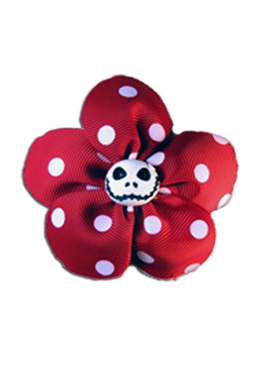 Krazy Daisy in Red with White Polka Dots