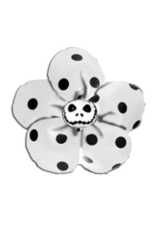 Krazy Daisy in White with Black Polka Dots