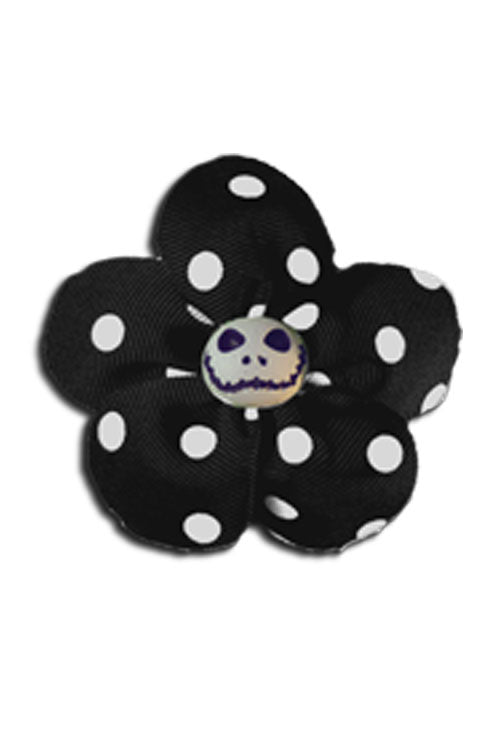 Krazy Daisy in Black with White Polka Dots