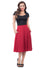 Steady High-Waisted Thrills Skirt with Pockets in Red