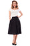 Steady High-Waisted Thrills Skirt with Pockets in Black