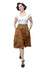 Steady Plaid on Parade Thrills Skirt with Pockets in Mustard