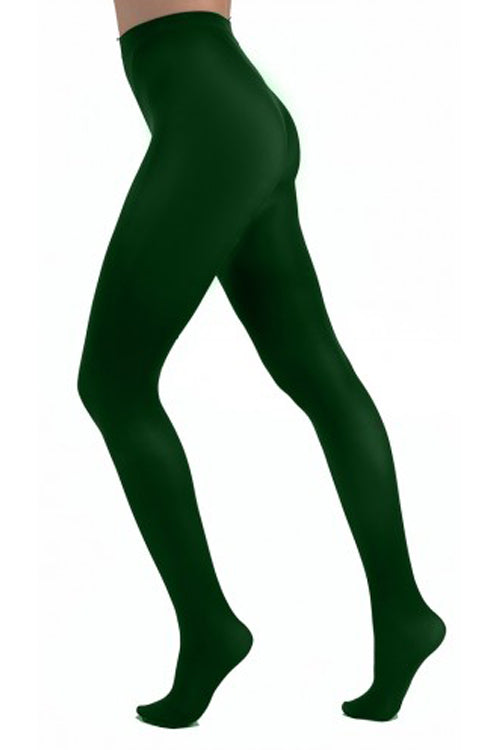 Pamela Mann Hosiery 50 Denier Opaque Pantyhose in Forest Green
