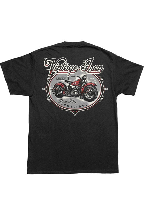 Lucky 13 Mens Black T-Shirt in Road King