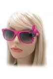 Kiss Eyewear Bunny Sunglasses in Pink Frame with Purple Bow