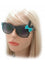 Kiss Eyewear Bunny Sunglasses with Black Frame and Polka dot Bow  & Hearts in Red