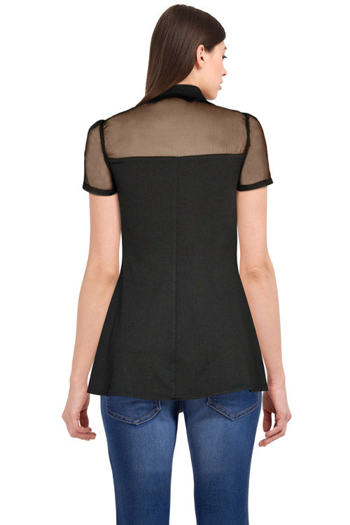 Chicstar Sabbath Top in Black