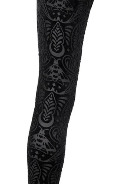 Killstar Saiph Burnout Velvet Leggings