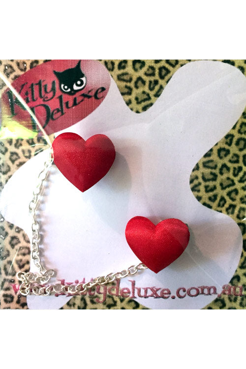 Kitty Deluxe Cardigan Clips in Satin Heart Design