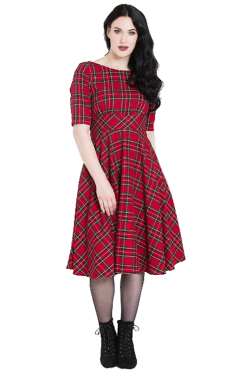 Hell Bunny Irvine 50's Dress in Red