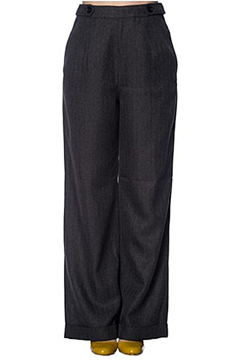 Banned Secretary Trousers in Charcoal