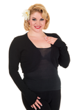 Banned Flickers Bolero / Shrug in Black