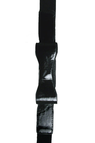 "Kitty Deluxe 1"" Skinny Bow Belt in Black"