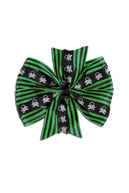 Deluxe Skull Bow in Green