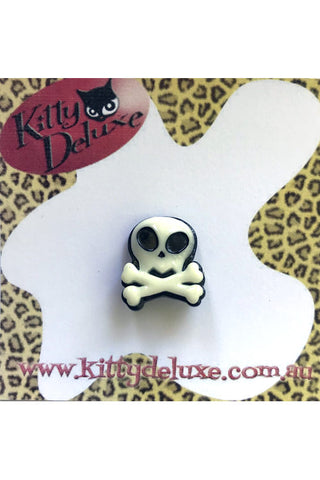 Kitty Deluxe Broochlette Mini Brooch in Skull & Crossbones