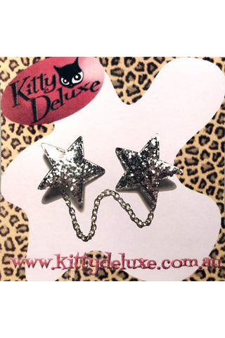 Kitty Deluxe Cardigan Clips in Twinkle Twinkle Design
