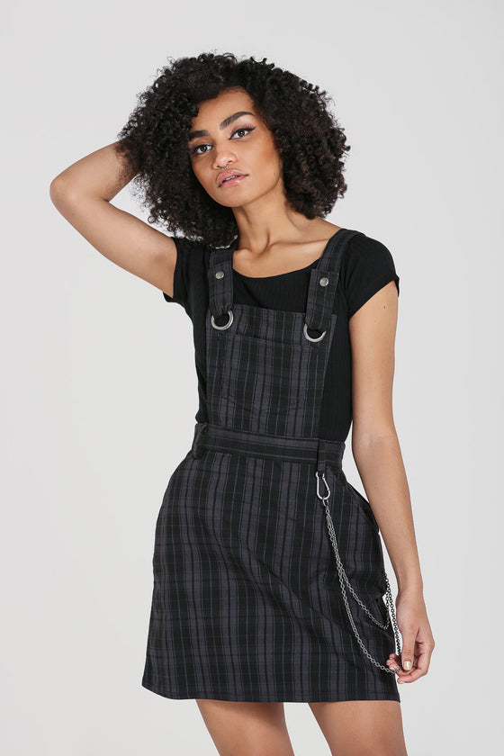 Hell Bunny Storm Pinafore Dress