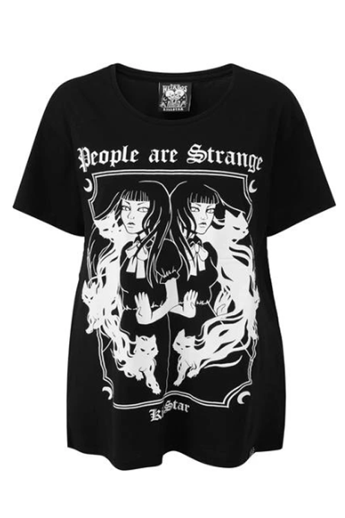 "Killstar ""People are Strange"" Relaxed Top"