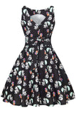 Lady Vintage Tea Dress in Panda Surprise