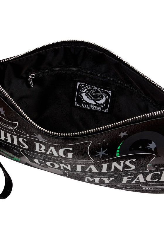 "Killstar ""This Bag Contains My Face"" Makeup Bag"