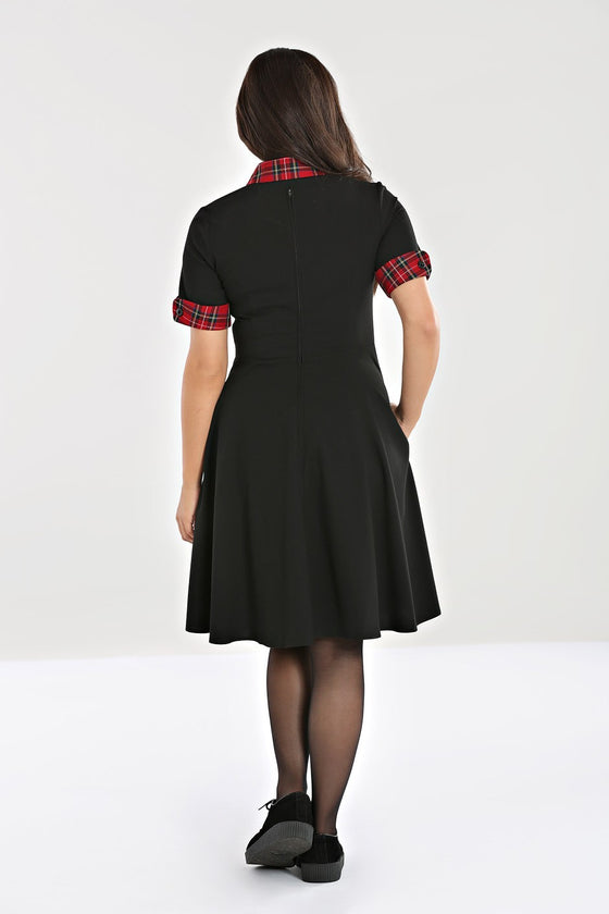 Hell Bunny Tiddlywinks Mid Dress in Black