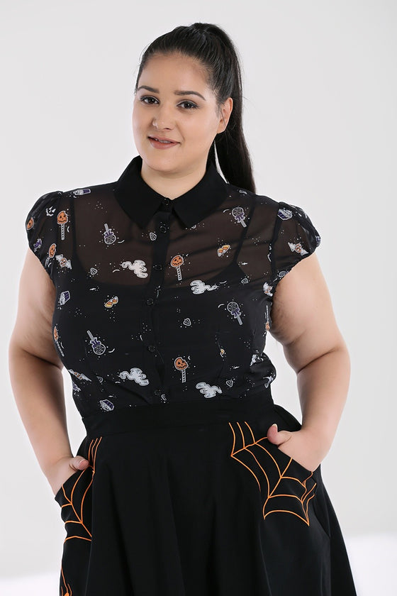 Hell Bunny Trick or Treat Blouse