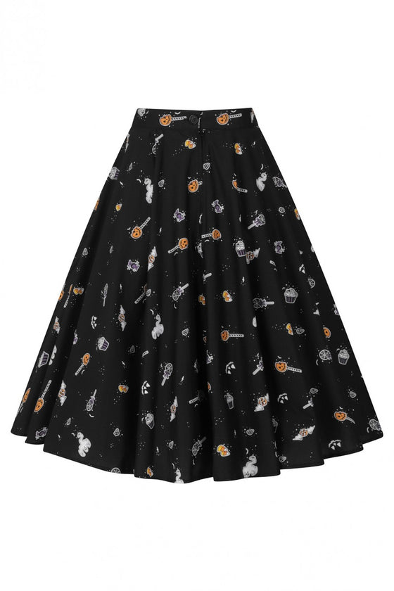 Hell Bunny Trick or Treat 50's Skirt