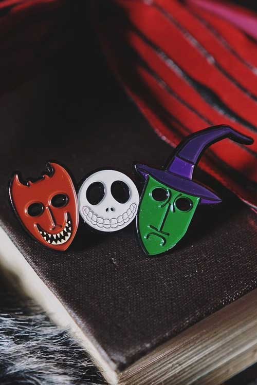 Lively Ghosts Trick or Treaters Large Enamel Pin