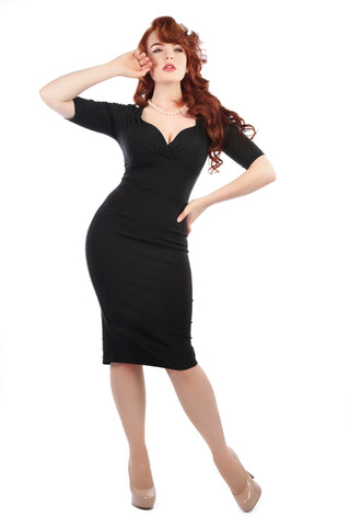 Collectif Trixie Pencil/Wiggle Dress in Black