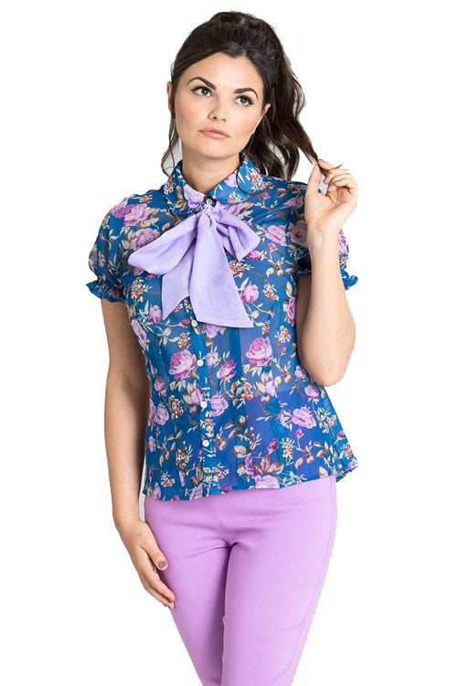 Hell Bunny Violetta Blouse