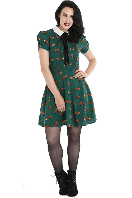Hell Bunny Vixey Dress in Green