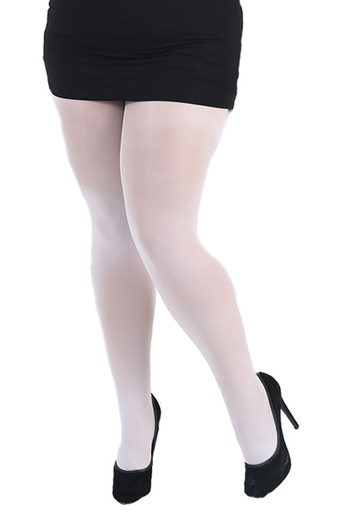 Pamela Mann Hosiery Curvy Super-Stretch 50 Denier Tights in White