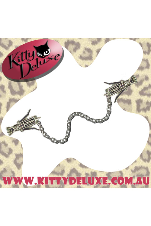 Kitty Deluxe Cardigan Clips in Wine Time