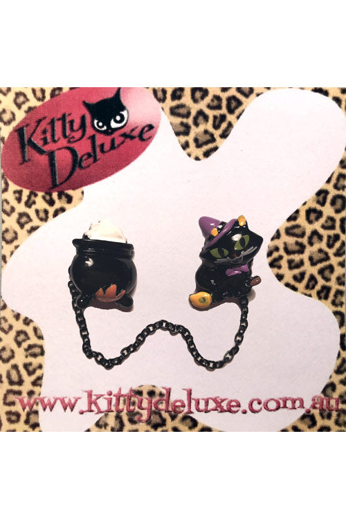 Kitty Deluxe Cardigan Clips in Witch's Essentials Design